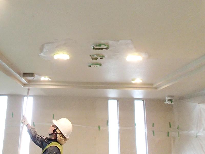 天井塗装工事