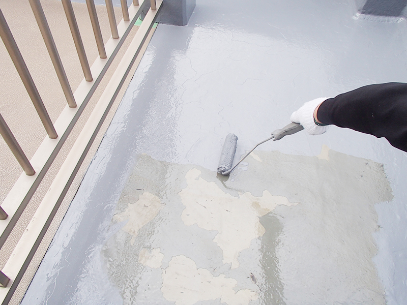 ルーフバルコニーのFRP防水工事